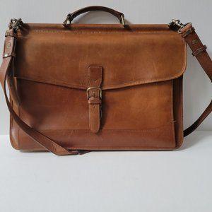 L.L. Bean Vintage Leather Travel Briefcase Laptop Messenger Bag